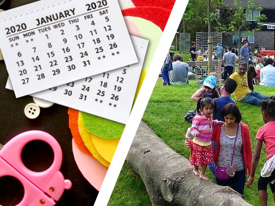Calendar making and walk in the park
