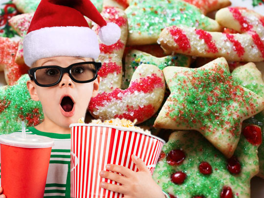 Christmas movie and cookie baking