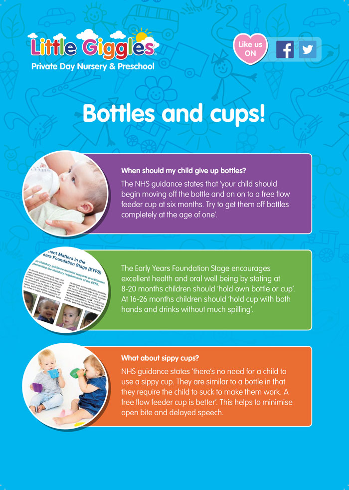 Bottles and Cups Leaflet